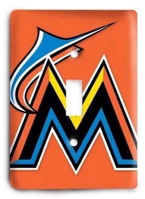 Miami Marlins MLB 3 Light Switch Cover - Colorful Switches