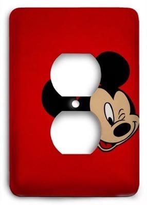 Mickey Mouse Disney Red Outlet Cover - Colorful Switches