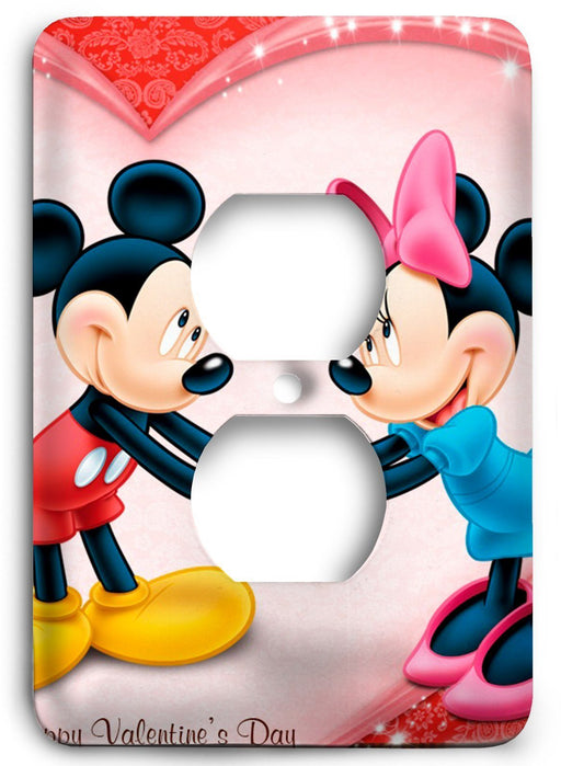 Mickey and Mini Holiday Love Outlet Cover - Colorful Switches
