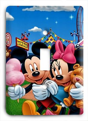 Mickkey Mouse and Mini Mouse Light Switch - Colorful Switches