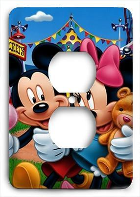 Mickey Mouse and Mini Mouse Outlet Cover - Colorful Switches
