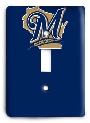 Milwaukee Brewers 07 Light Switch Cover - Colorful Switches