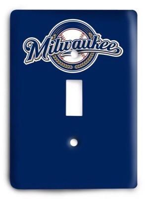 Milwaukee Brewers 08 Light Switch Cover - Colorful Switches
