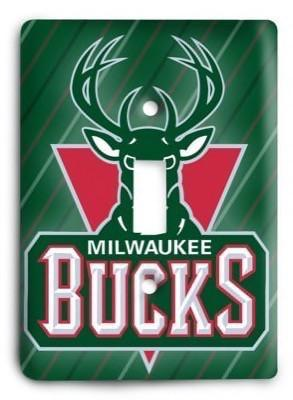 Milwaukee Bucks NBA 1 Light Switch Cover - Colorful Switches
