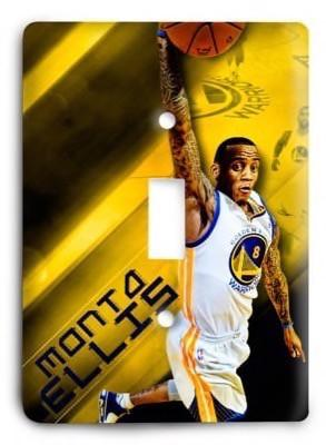 Monta Ellis Golden State Warriors NBA 05v Light Switch Cover - Colorful Switches