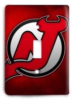 New Jersey Devils NHL 3 Light Switch Cover - Colorful Switches