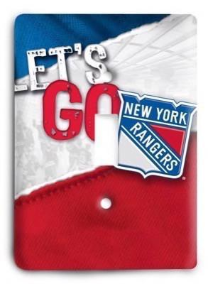 New York Rangers NHL 6 Light Switch Cover - Colorful Switches