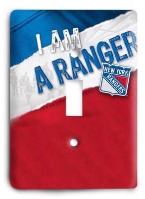 New York Rangers NHL 7 Light Switch Cover - Colorful Switches