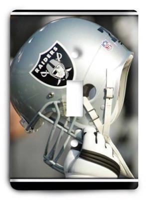 Oakland Raiders NFL 1 Light Switch Cover - Colorful Switches