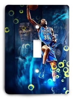 Oklahoma City Thunder NBA 14 Light Switch Cover - Colorful Switches