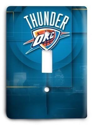 Oklahoma City Thunder NBA 45v Light Switch Cover - Colorful Switches