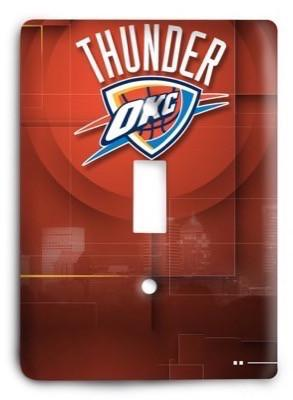 Oklahoma City Thunder NBA 46v Light Switch Cover - Colorful Switches