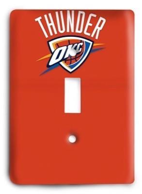 Oklahoma City Thunder NBA 49 Light Switch Cover - Colorful Switches