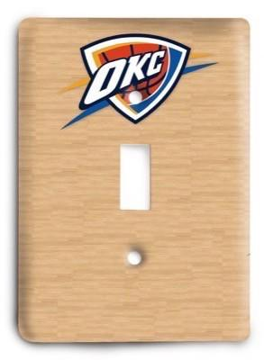 Oklahoma City Thunder NBA 52 Light Switch Cover - Colorful Switches