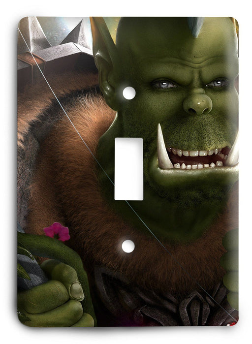 Orc Hunter World of Warcraft Light Switch Cover - Colorful Switches