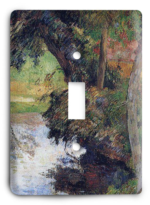 Paul Gauguin Red Roof By The Water 1885 Light Switch Cover - Colorful Switches