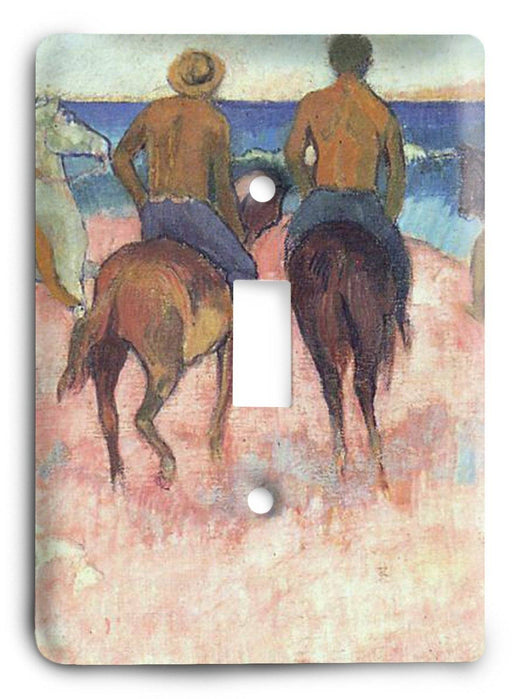 Paul Gauguin Riders On The Beach 1902 Light Switch Cover - Colorful Switches