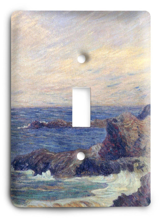 Paul Gauguin Rocks On The Seashore 1886 Light Switch Cover - Colorful Switches