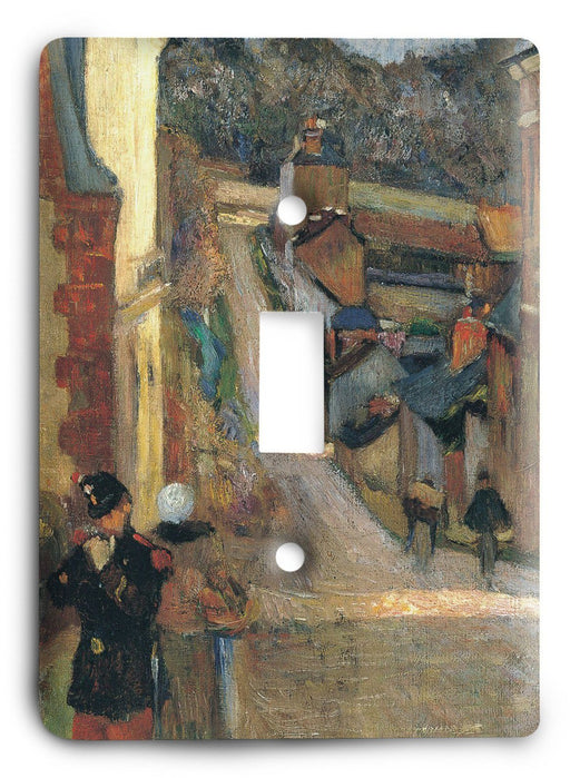 Paul Gauguin Rue Jouvenet In Rouen 1884 Light Switch Cover - Colorful Switches