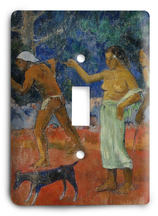 Paul Gauguin Scene From Tahitian Life 1896 Light Switch Cover - Colorful Switches