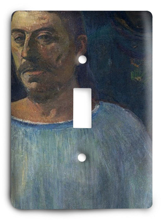 Paul Gauguin Self Portrait - Close To Golgotha 1896 Light Switch Cover - Colorful Switches