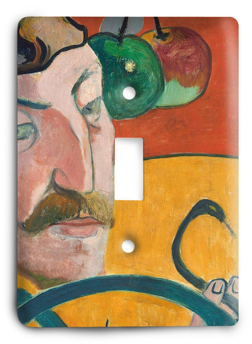 Paul Gauguin Self Portrait 1889 Light Switch Cover - Colorful Switches