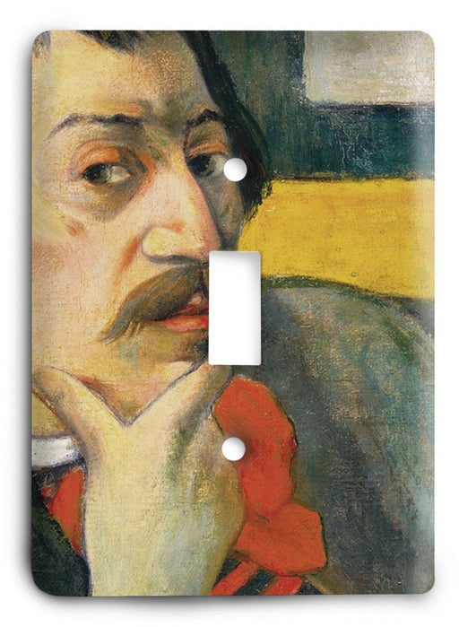 Paul Gauguin Self Portrait 1893 Light Switch Cover - Colorful Switches