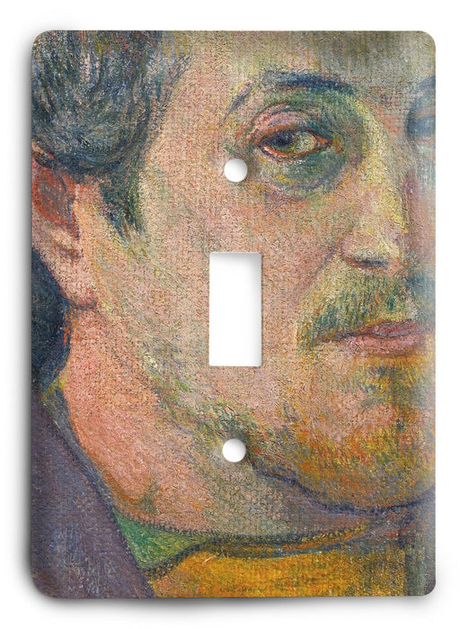Paul Gauguin Self Portrait Dedicated To Carriere 1888-89 Light Switch Cover - Colorful Switches