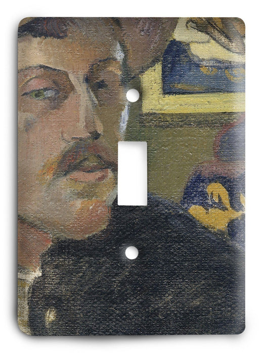 Paul Gauguin Self Portrait With A Hat 1893-94 Light Switch Cover - Colorful Switches