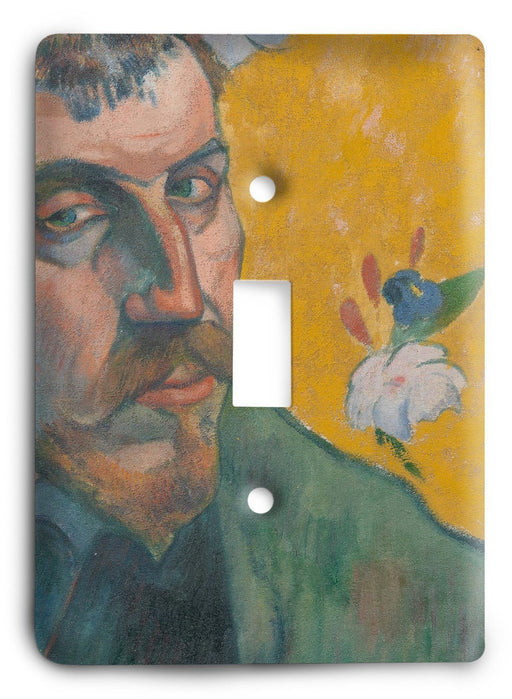 Paul Gauguin Self Portrait With Portrait Of Bernard 'les Miserables' 1888 Light Switch Cover - Colorful Switches