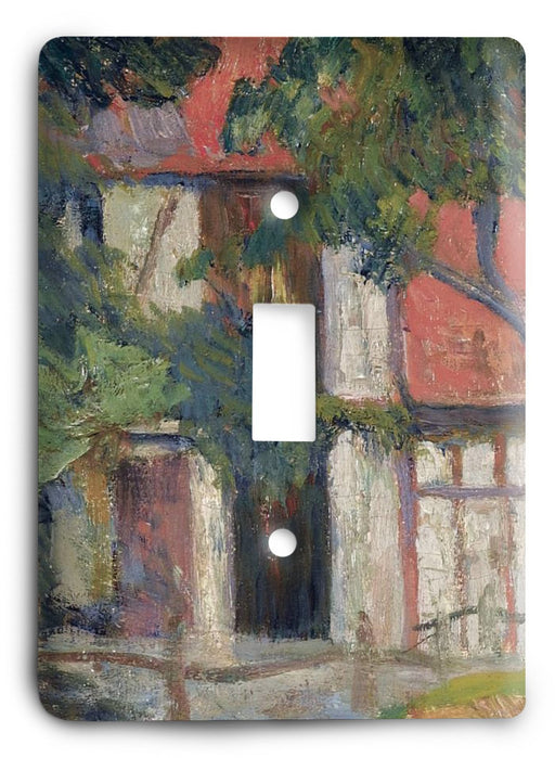 Paul Gauguin Stable Near Dieppe 1885 Light Switch Cover - Colorful Switches