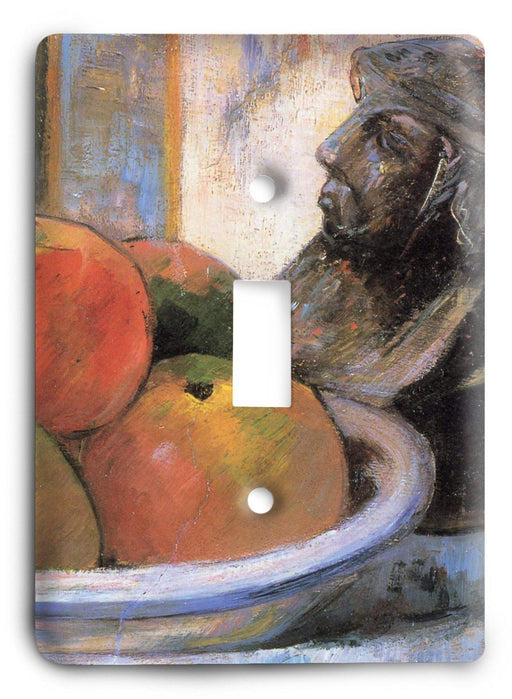 Paul Gauguin Still Life With Apples A Pear And A Ceramic Portrait Jug 1889 Light Switch Cover - Colorful Switches