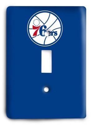Philadelphia 76ers NBA 12 Light Switch Cover - Colorful Switches