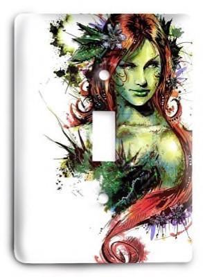 Poison Ivy DC Comics v2 Light Switch Cover - Colorful Switches