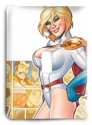Power Girl Light Switch Cover - Colorful Switches
