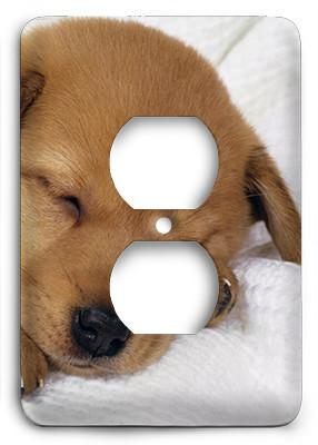 Puppie Loves Sleeping Outlet Cover - Colorful Switches