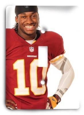 RG3 Robert Giffin III - Washington Redskins NFL 11 Light Switch Cover - Colorful Switches