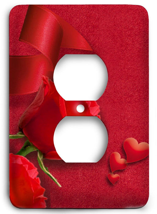 Red Textures Design v02  Outlet Cover - Colorful Switches
