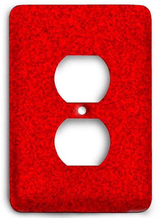 Red Textures Design v05  Outlet Cover - Colorful Switches