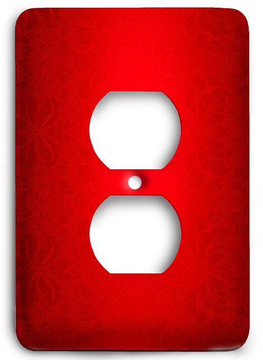 Red Textures Design v06  Outlet Cover - Colorful Switches