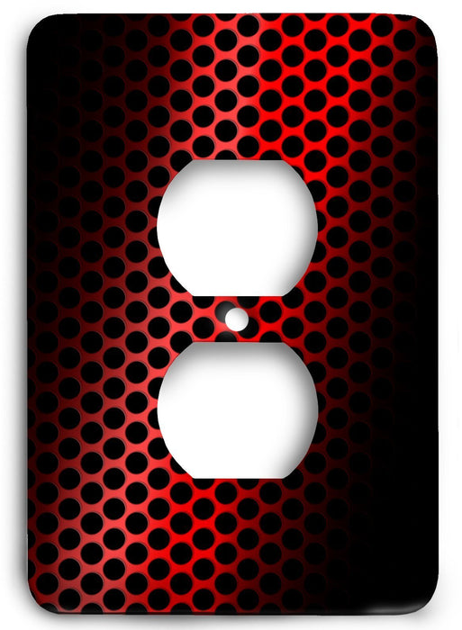 Red Textures Design v22  Outlet Cover - Colorful Switches