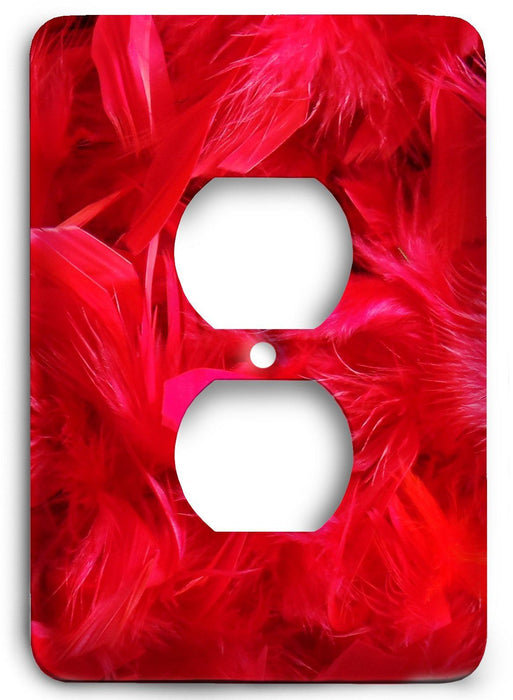 Red Textures Design v32  Outlet Cover - Colorful Switches