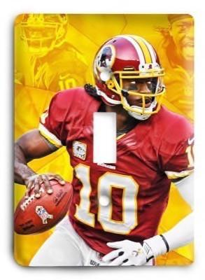 Robert Grifin III Redskins NFL Light Switch Cover - Colorful Switches