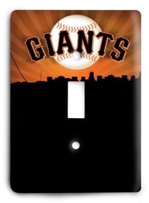 San Francisco Giants 20 Light Switch Cover - Colorful Switches
