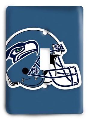 Seattle Seahawks NFL 10 Light Switch Cover - Colorful Switches