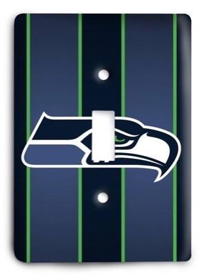 Seattle Seahawks NFL 15 Light Switch Cover - Colorful Switches