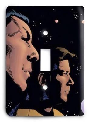 Spock and Kirk Star Trek Light Switch Cover - Colorful Switches