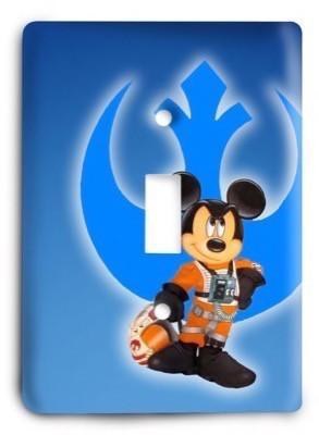 Star Wars Mickey Mouse Jedi Light Switch Cover - Colorful Switches
