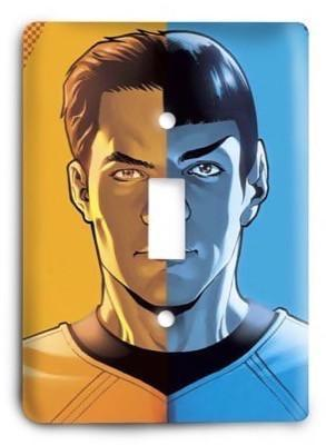 Star Trek Kirk and Spock Light Switch Cover - Colorful Switches