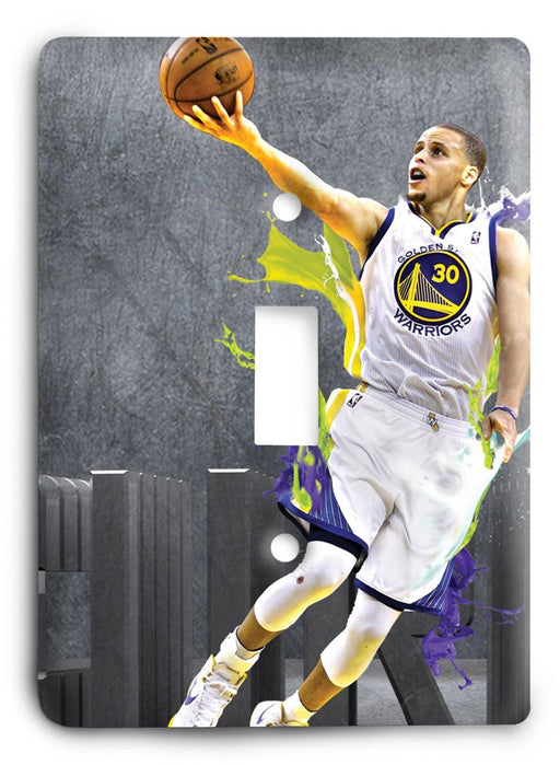 Stephen Curry Golden State Warriors All Up Light Switch Cover - Colorful Switches